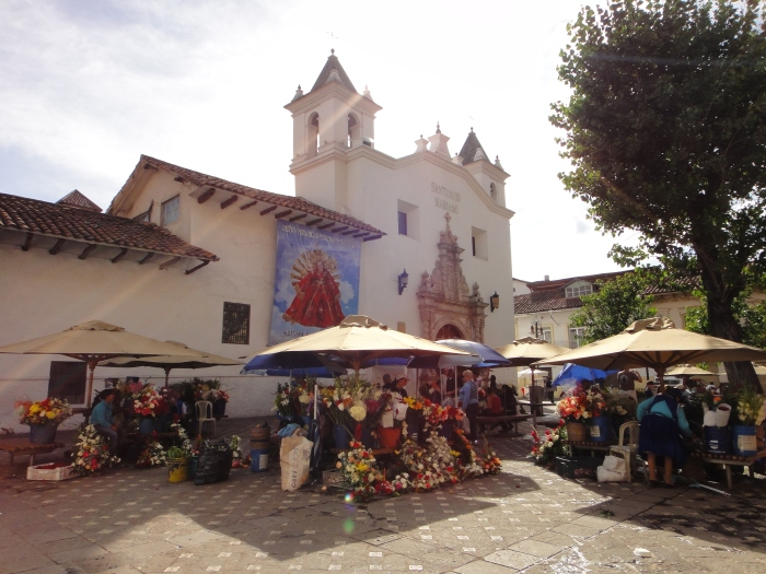 "One of Cuenca's many outdoor markets.  A good place to practice ""not-dickering."""