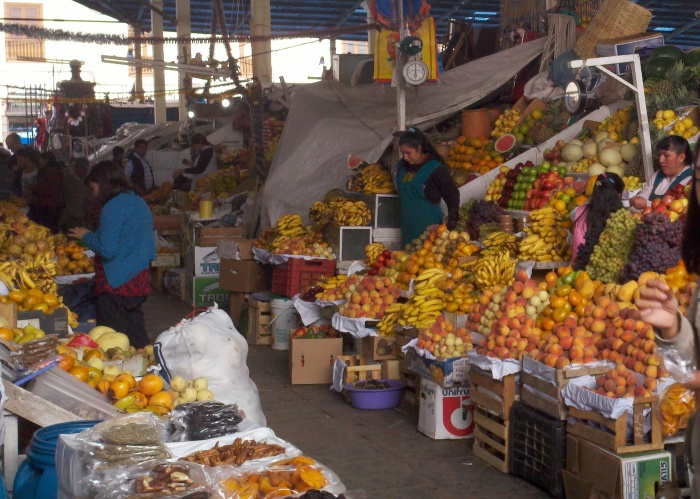 A Latin American Market in all its' Colorful Glory
