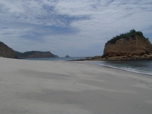 With beaches like these at nearby Los Frailes, Puerto Lopez has a bright future in tourism.