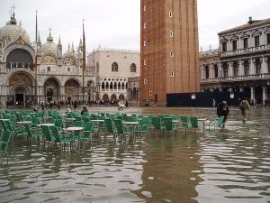 Flooding in Piazza San Marco