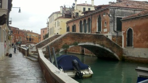 """The back """"alleyways"""" of Venice."""