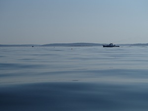 On a calm morning, distant lobster boats can sound like they're 10 feet away.