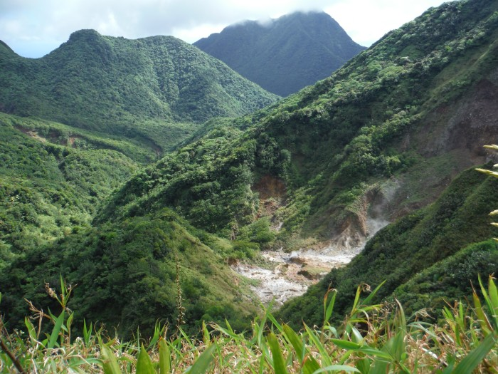 Dominica's rugged interior.